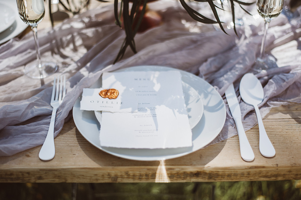 Wedding Place Setting by Weddings by Jenna Hewitt