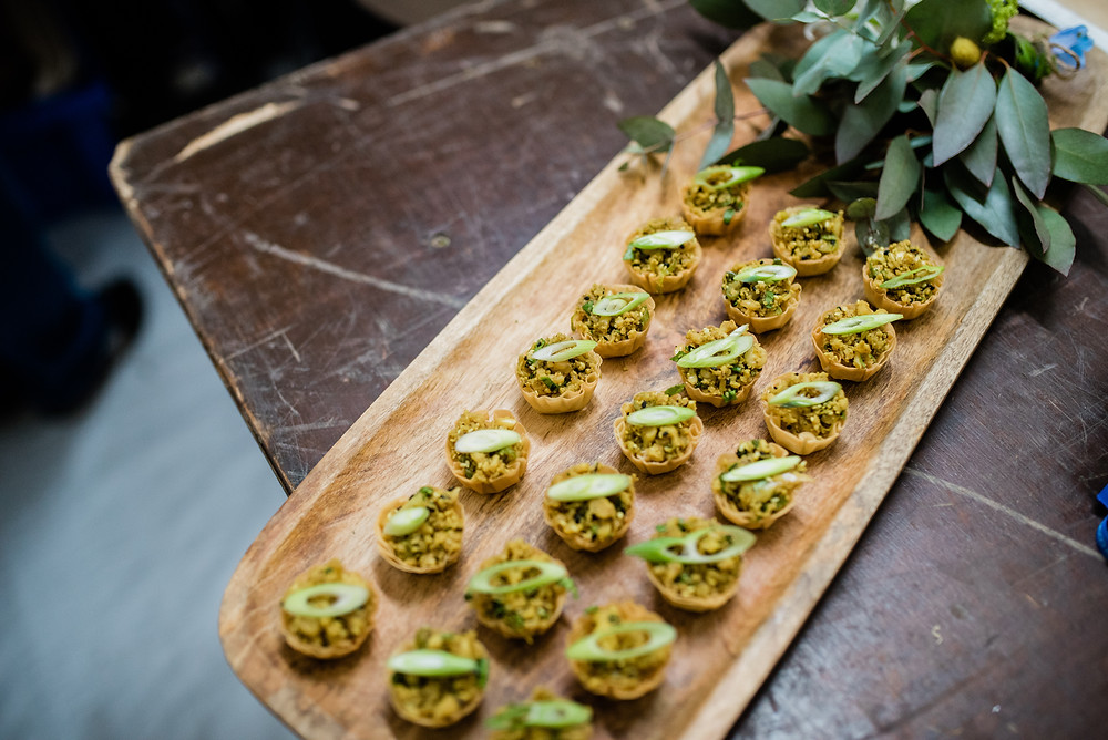 canapés by Two Many Cooks, Wedding Caterer