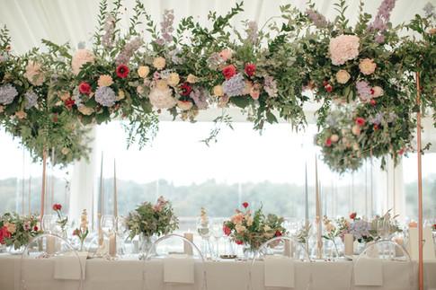 trailing suspended florals