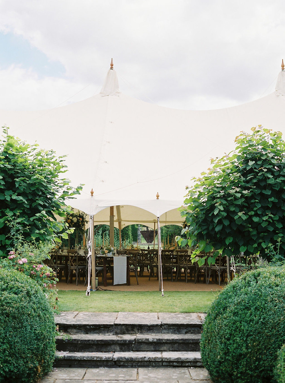 Pole sail tent marquee wedding planned in Dorset by Weddings by Jenna Hewitt