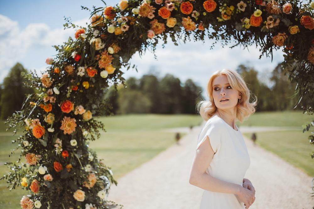 Floral Wedding Ceremony Backdrop by Emma Soulsby