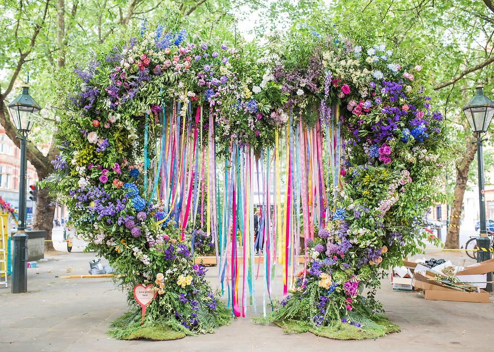Wedding colourful backdrop
