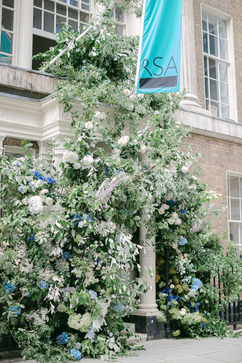 Wedding Floral Arch at RSA House London with Weddings by Jenna Hewitt and All for Love London