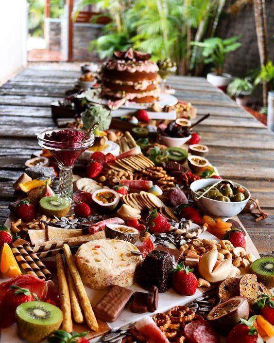 Wedding day sharing food board