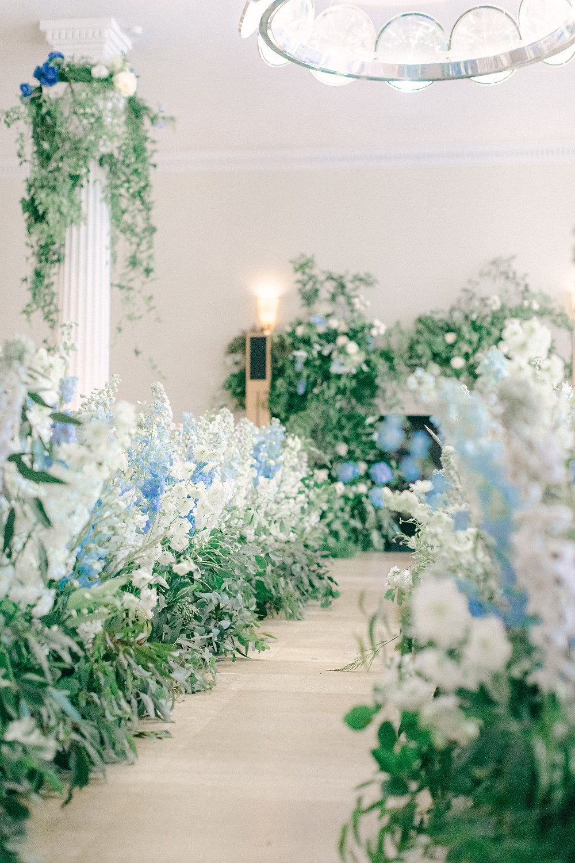 Wedding aisle meadow flowers