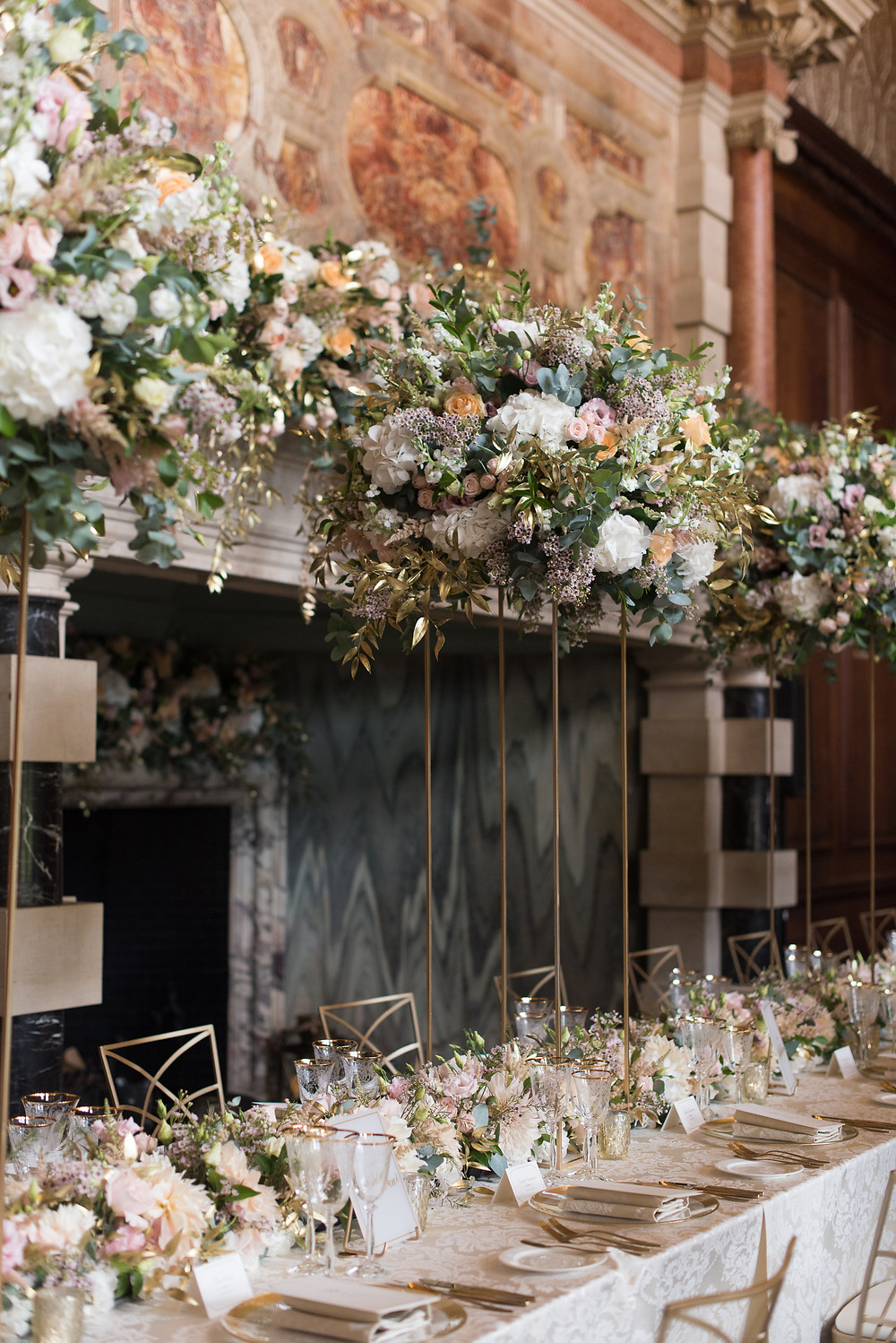 Overhead Canopy of luxury wedding flowers