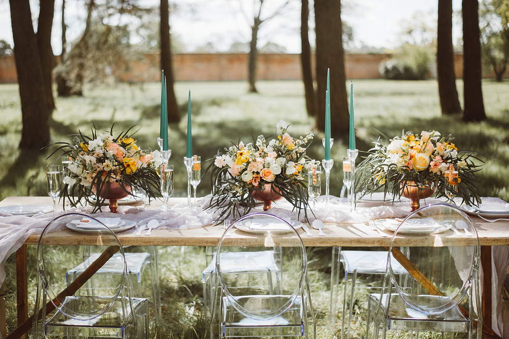 Table Styling at Somerley House, Luxury Wedding Venue