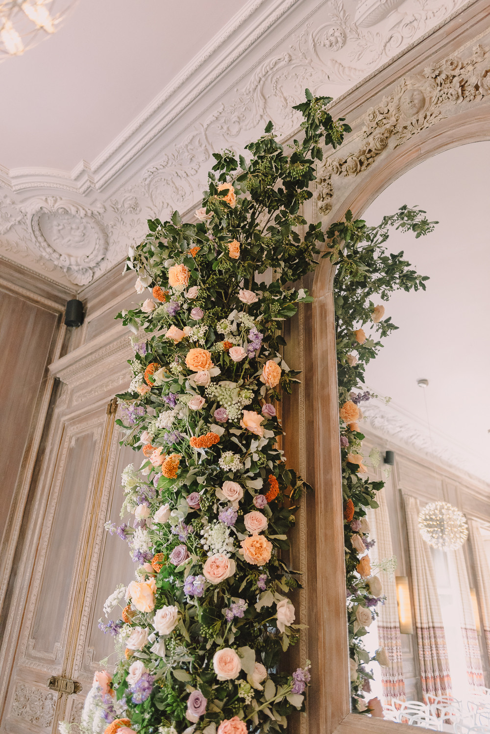 Floral Wedding arch at Cowley Manor by Emma Soulsby
