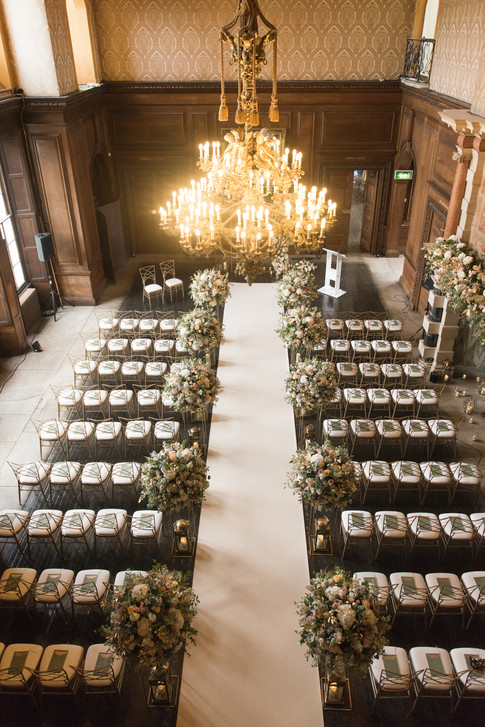 Aerial View of the Wedding Ceremony