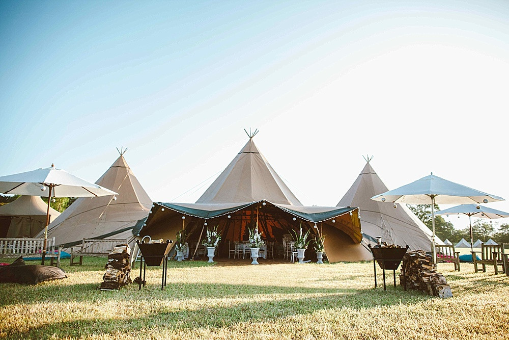 kata or tipi tent for a wedding