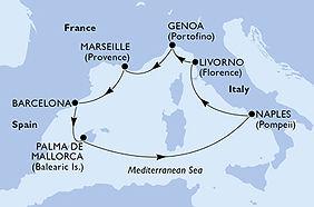 MSC Seaside - España, Italia, Francia -