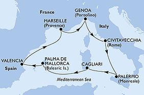 MSC Seaview - Italia, España, Francia -