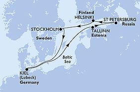 MSC Splendida - Alemania, Estonia, Rusia