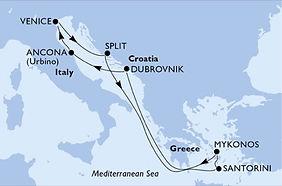 MSC Lirica - Italia. Croacia, Grecia - M