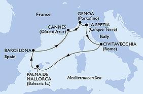 MSC Grandiosa - España, Francia, Italia