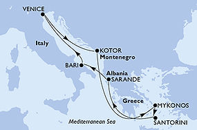 MSC Sinfonia - Italia, Montenegro, Greci