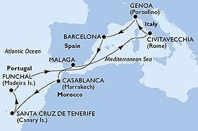 MSC Splendida - España, Marruecos, Portu