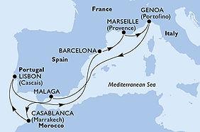 MSC Virtuosa - España, Francia, Italia,