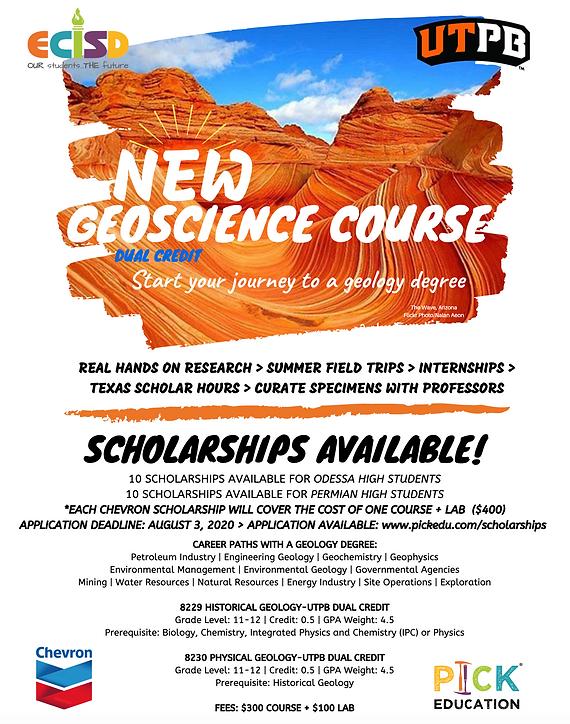 Geoscience Dual Credit ECISD UTPB Schola