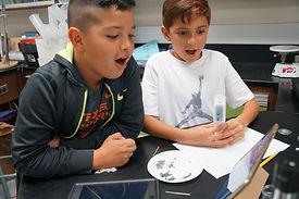 SharkFinder Digital Microscope Viewing Students