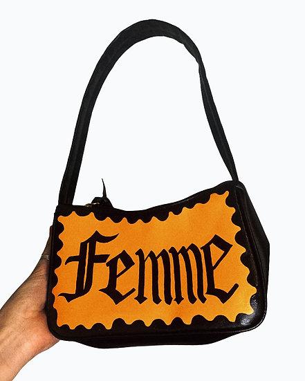 Femme Hand Painted Shoulder Bag