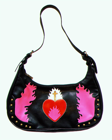 'Rotten' Faux Leather Studded Bag