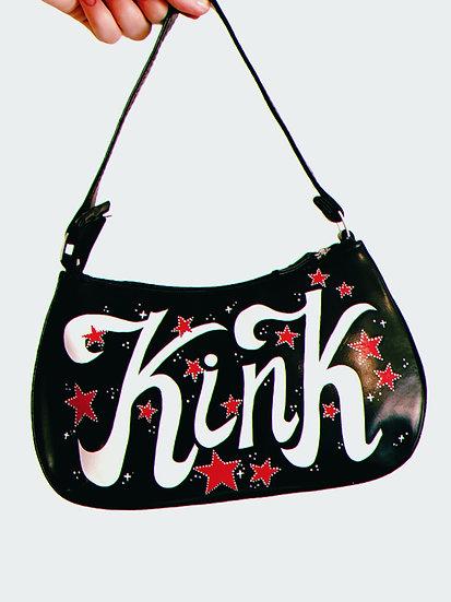 'Kink' Faux Leather Handpainted Shoulder Bag