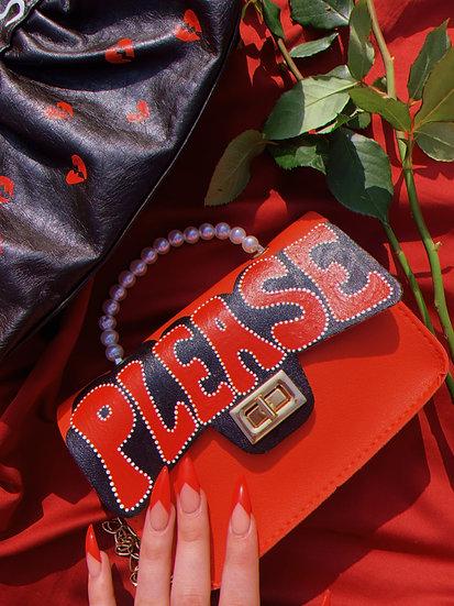 'Please' Hand Painted Crossbody Bag