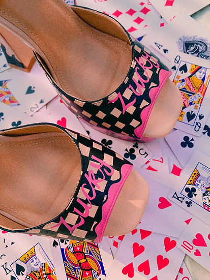 'Lucky' Hand Painted Platforms