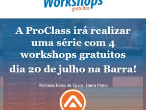 Workshops GRATUITOS na Barra na Tijuca