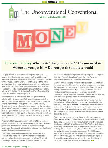 Money Magazine Spring Edition 2013 Finan
