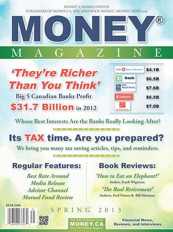 Money Magazine Spring Edition 2013 Cover