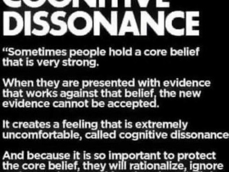 if you stay stuck in cognitive dissonance...