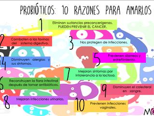 Probióticos: 10 razones para amarlos
