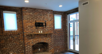 REdstone Lofts 201 Fireplace and Patio.J