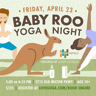 Baby Roo Yoga Night at EVEN Hotel