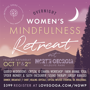 Women's Overnight Mindfulness Retreat at North Georgia Wildlife Park