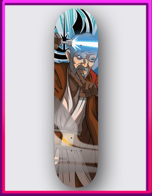 Obi-Wan Skateboard Deck