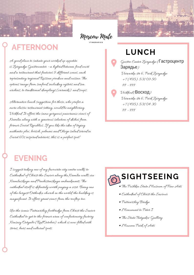 Consultation+ itinerary design