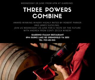 THREE POWERS COMBINE!