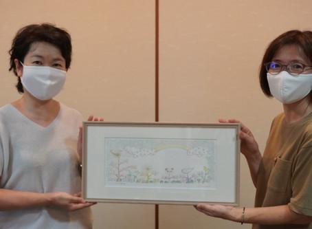 『下町絵本展』メインビジュアルの原画をご寄贈いただきました