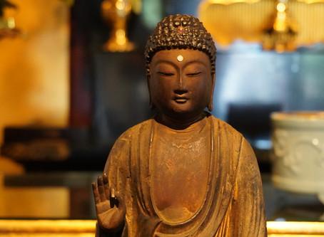 新たな阿弥陀仏像を安置しました