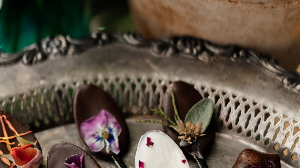 Floral Chocolate Spoons