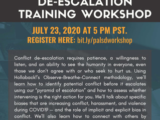 Join the AABA/SABA/NAPIPA/AAJ Organizations for a De-Escalation Training Workshop