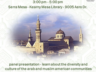 Join SD JACL for an Introduction to Arab Culture Saturday, November 16th