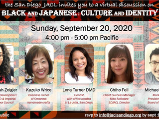 SD JACL Invites you to a Cultural Identify Discussion, Sunday Sept. 20th
