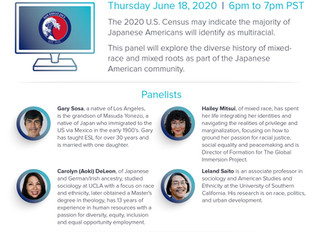 San Diego JACL Virtual Panel Discussion: Japanese Americans: Mixed Race, Mixed Culture, Mixed Identi