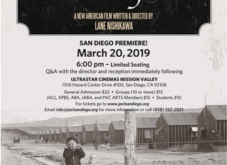 """Join the SD JACL for the San Diego Premiere of """"OUR LOST YEARS"""""""