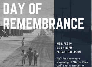 UCSD Day of Remembrance Film Screening of 'Never Give Up'