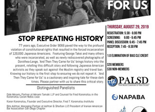 """""""And Then They Came For Us"""" Film Screening August 29th"""